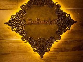 Buhari Signboard:  Corridor & hallway by Design DNA Hyderabad