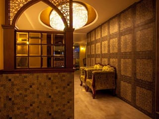 Buhari Foyer:  Corridor & hallway by Design DNA Hyderabad