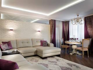 В НОВОМ СВЕТЕ Гостиные в эклектичном стиле от GLAZOV design group концептуальная студия дизайна интерьеров Эклектичный