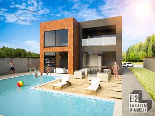 E2 TASARIM & MİMARLIK – KONUT TASARIMI:  tarz Villa