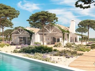 Hotel Bicas Comporta (3D): Bungalows  por Inlighted®