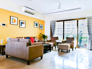 Completed Projects In Mumbai:  Living room by HomeLane.com