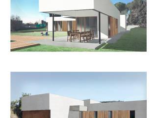 Memoria de proyecto Passivhaus: Jardines delanteros de estilo  de Divers Arquitectura, especialistas en Passivhaus en Sabadell