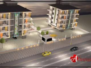 Melike Akgül Mimari Tasarım Ofisi – ALTUNIŞIK KONUTLARI:  tarz Evler