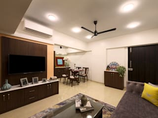 Flat Renovation for S.K. Shetty : minimalist  by Chaitali Shah ,Minimalist