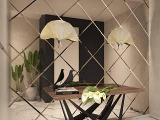 Квартира на Садовнической Коридор, прихожая и лестница в стиле минимализм от Дизайнер Ольга Погорелова Минимализм