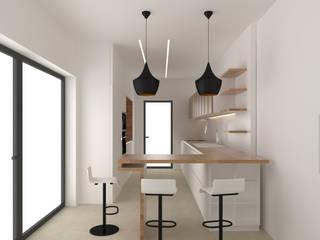 Arq.Interiores_cozinha Cozinhas minimalistas por Espaços de Mim Minimalista