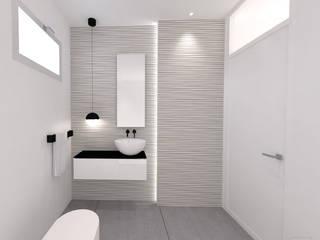 Progettazione bagno in bianco e nero: Bagno in stile  di ALFONSI ARCHITETTURA,