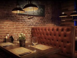Restaurante BLACK LABEL URBAN GRILL MALAGA Gastronomía de estilo industrial de DESVAN VINTAGE Industrial