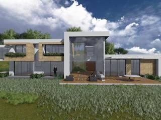 : Casas unifamiliares de estilo  por Zacua Arquitectura S.A.S,