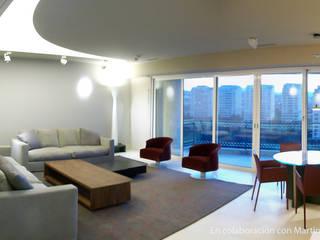 Casa M Salones minimalistas de Visionary Architecture SA de CV Minimalista