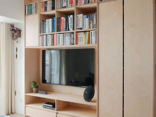 Paredes e pisos minimalistas por 六相設計 Phase6 Minimalista