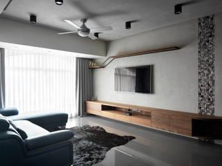 Salas de estar industriais por 舍子美學設計有限公司 Industrial