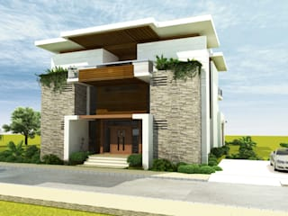 ANTE MİMARLIK  – Ketenci Villa - Sasalı:  tarz Villa