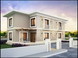 ANTE MİMARLIK  – Ekon İnşaat - Villa Proje:  tarz Villa