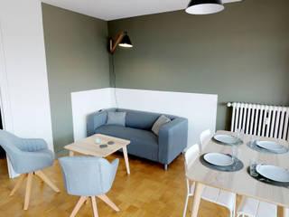 MIINT - design d'espace & décoration Salones de estilo moderno Verde