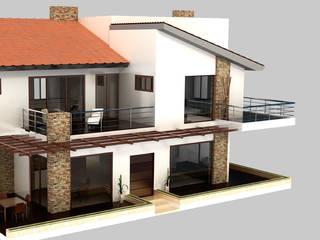 CASAS DE VERANO EN VILLAVICENCIO META: Casas campestres de estilo  por INGENIAR Proyectos y Construcciones,