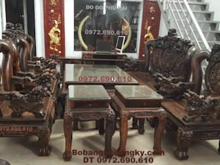 BAN GHE GO MUN DEP kieu Nghe Dinh Cot 16cm B294: cổ điển  by Do Go My Nghe Phu Hai, Kinh điển