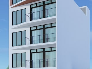 Departamentos MORILLOTLA Casas modernas de FORMAS ARQUITECTURA Moderno