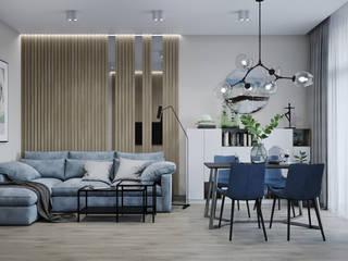 Salones de estilo escandinavo de дизайн-бюро ARTTUNDRA Escandinavo
