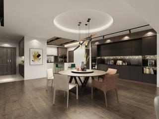 Comedores de estilo  de 台中室內設計-築采設計
