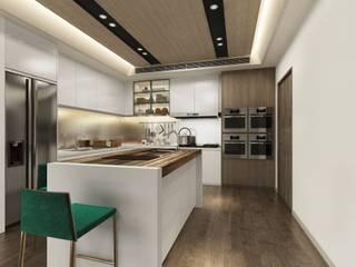 Módulos de cocina de estilo  de 台中室內設計-築采設計