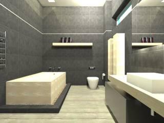 Waterfall House:  Bathroom by Bun Interior Design