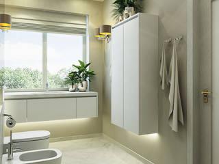 Интерьер дома: Ванные комнаты в . Автор – Design studio broliaishaunuoliai, Модерн