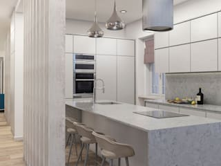 aponto Kitchen units Stone White