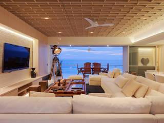 DEPTO GP Salones modernos de PAIR Arquitectura Moderno