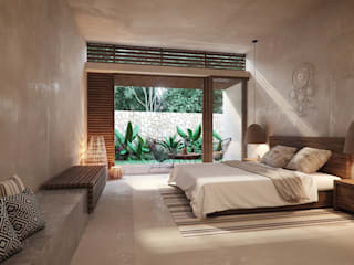 Embassy Realty Tropical style bedroom