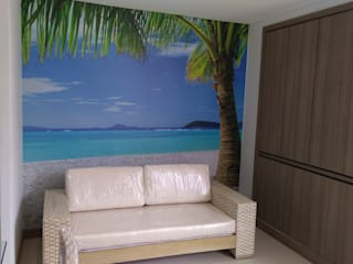 Foto mural Paredes y pisos de estilo tropical de Flap deco Tropical