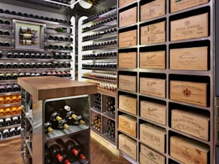 Wine Rooms & Wine Walls Spiral Cellars Ruang Penyimpanan Wine/Anggur Klasik