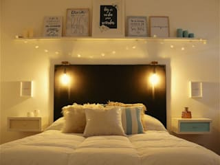Diseño de habitación principal Dormitorios rústicos de Vanesa Dufourc - Diseño de Interiores Rústico