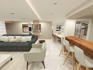 Residência Salas de estar modernas por INOVAT Arquitetura e interiores Moderno