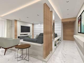 Residência Salas multimídia modernas por INOVAT Arquitetura e interiores Moderno