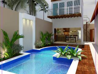 Area de lazer Piscinas modernas por MD&D Arquitetura e Interiores Moderno
