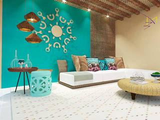 Area de lazer Salas de estar modernas por MD&D Arquitetura e Interiores Moderno
