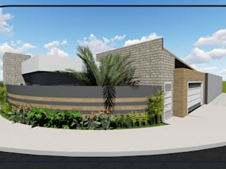 Casa Kanebo I Casas modernas por MD&D Arquitetura e Interiores Moderno
