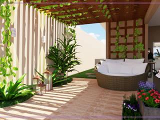 Casa em Registro-SP. Varandas, alpendres e terraços modernos por MD&D Arquitetura e Interiores Moderno