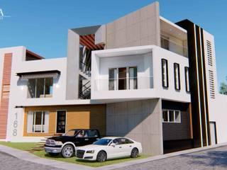 現代房屋設計點子、靈感 & 圖片 根據 YUMA ARQUITECTOS 現代風