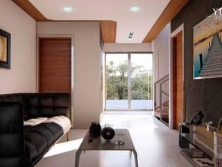 现代客厅設計點子、靈感 & 圖片 根據 YUMA ARQUITECTOS 現代風