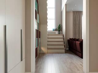 Дуплекс Коридор, прихожая и лестница в модерн стиле от Margarita Zenova Модерн