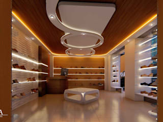 Modern corridor, hallway & stairs by YUMA ARQUITECTOS Modern