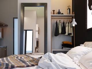 apartemen tipe studio: Kamar tidur kecil oleh NK studio,