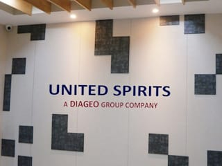 Turnkey Embedded Project management of Interior Fit-out for United Spirits Limited, Patna, India Modern study/office by Outcrop Professional Services Modern
