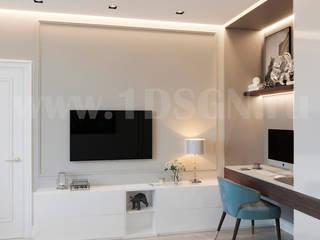 Habitaciones de estilo  por Дизайн студия 'Дизайнер интерьера № 1'