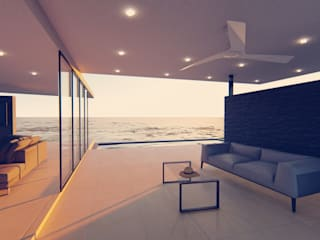 Modern living room by Tiaan Botha Architecture & Associates Modern