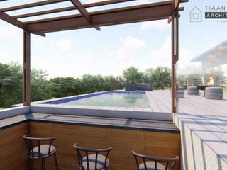 Estate Living 2_ Ballito, KZN:  Pool by Tiaan Botha Architecture & Associates,
