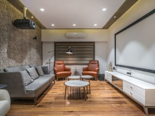 drawing room Modern media room by F.Quad Architecture and Interior Design Studio Modern